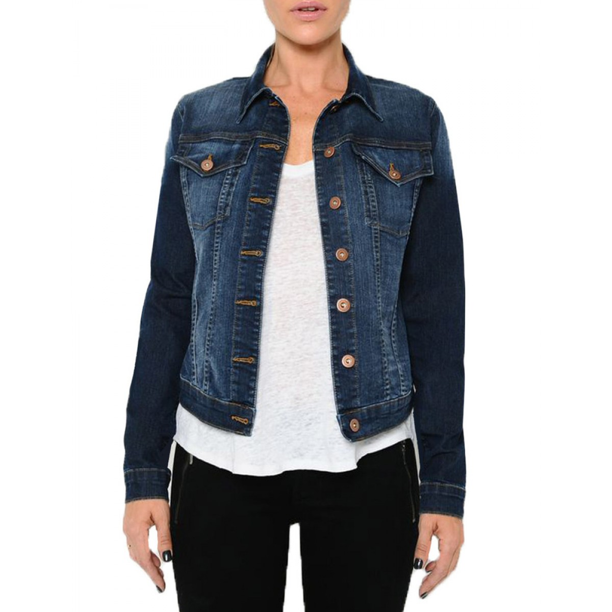 MIA & MOSS ® | Official Site | Bobbie Denim Jacket : Dark ...