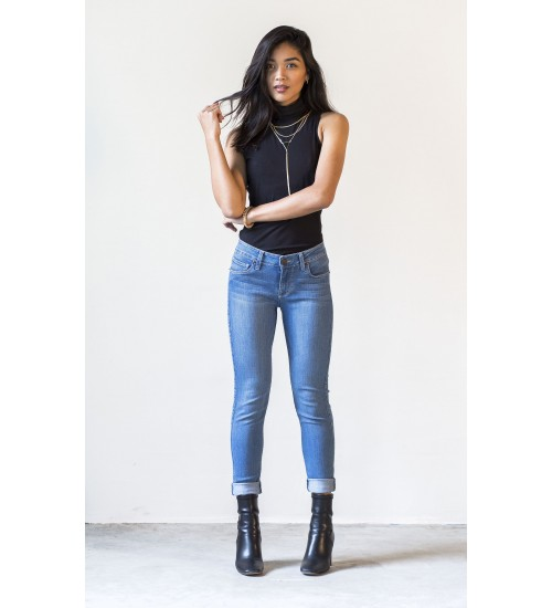 Camden Crop Skinny : Medium Blue