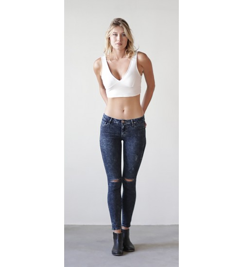 Sabine Skinny : Distressed Acid Wash