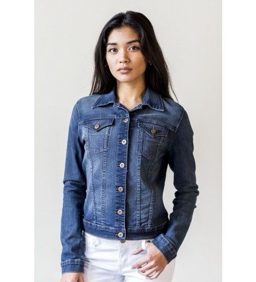 Bobbie Denim Jacket : Dark Blue