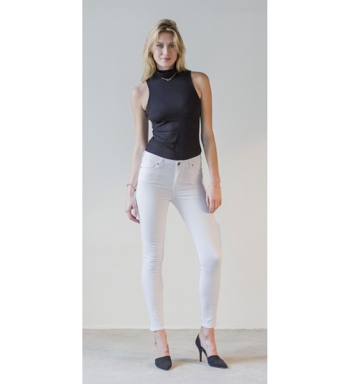 Hyde High Rise Skinny : White